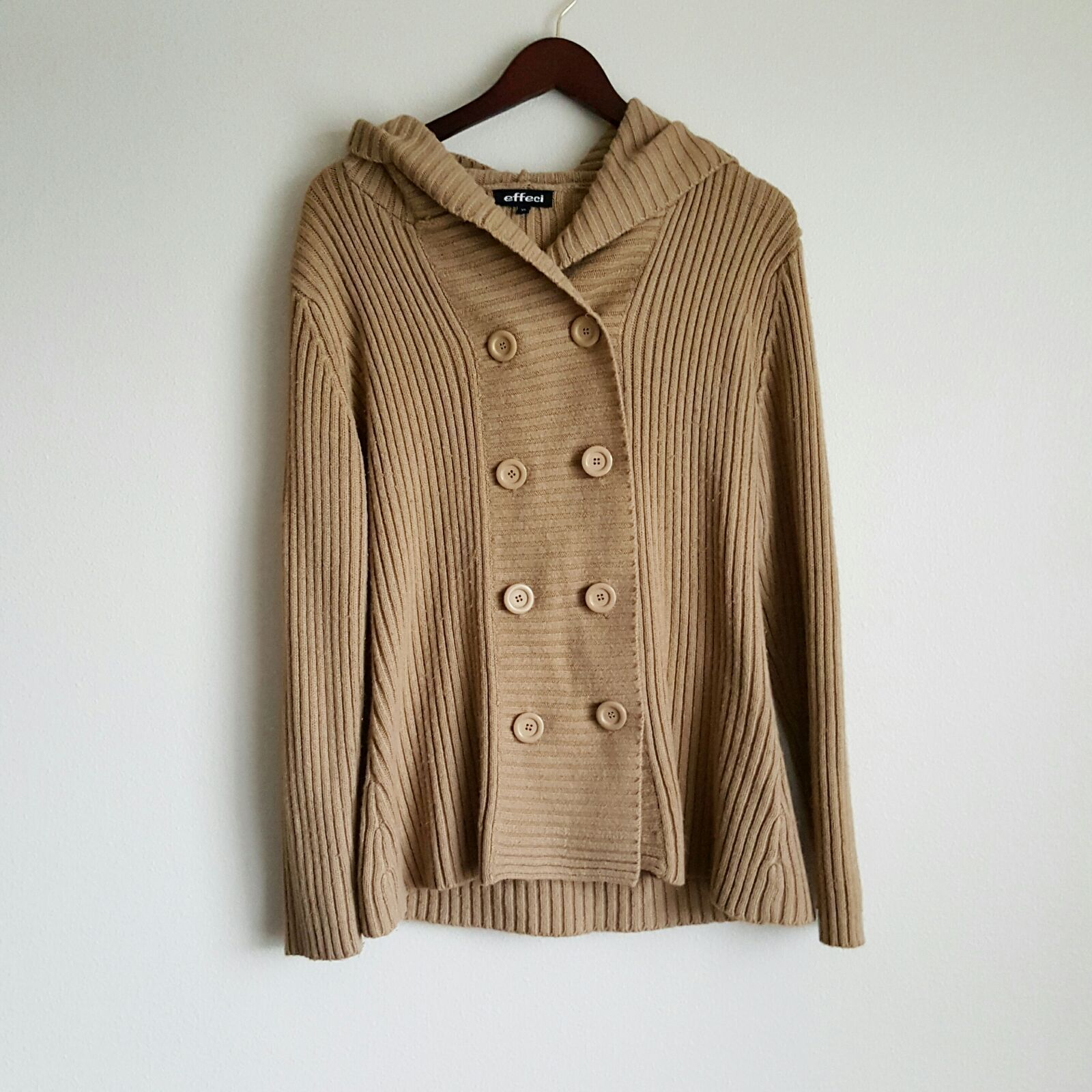 Camel knit button up cardigan sweater - Mercari: BUY & SELL THINGS ...