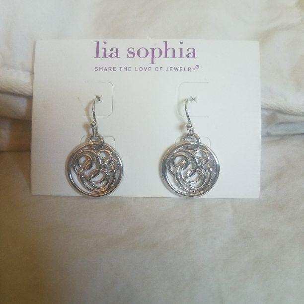 Lia Sophia earrings. New. Never worn.