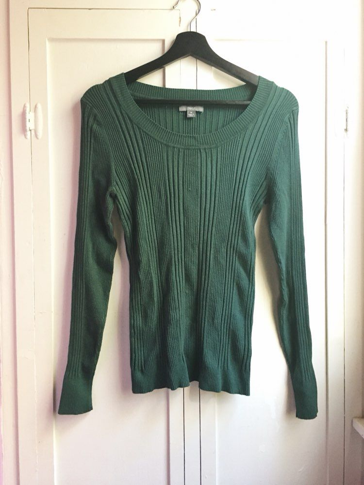 Green Ribbed Sweater - Mercari: BUY & SELL THINGS YOU LOVE