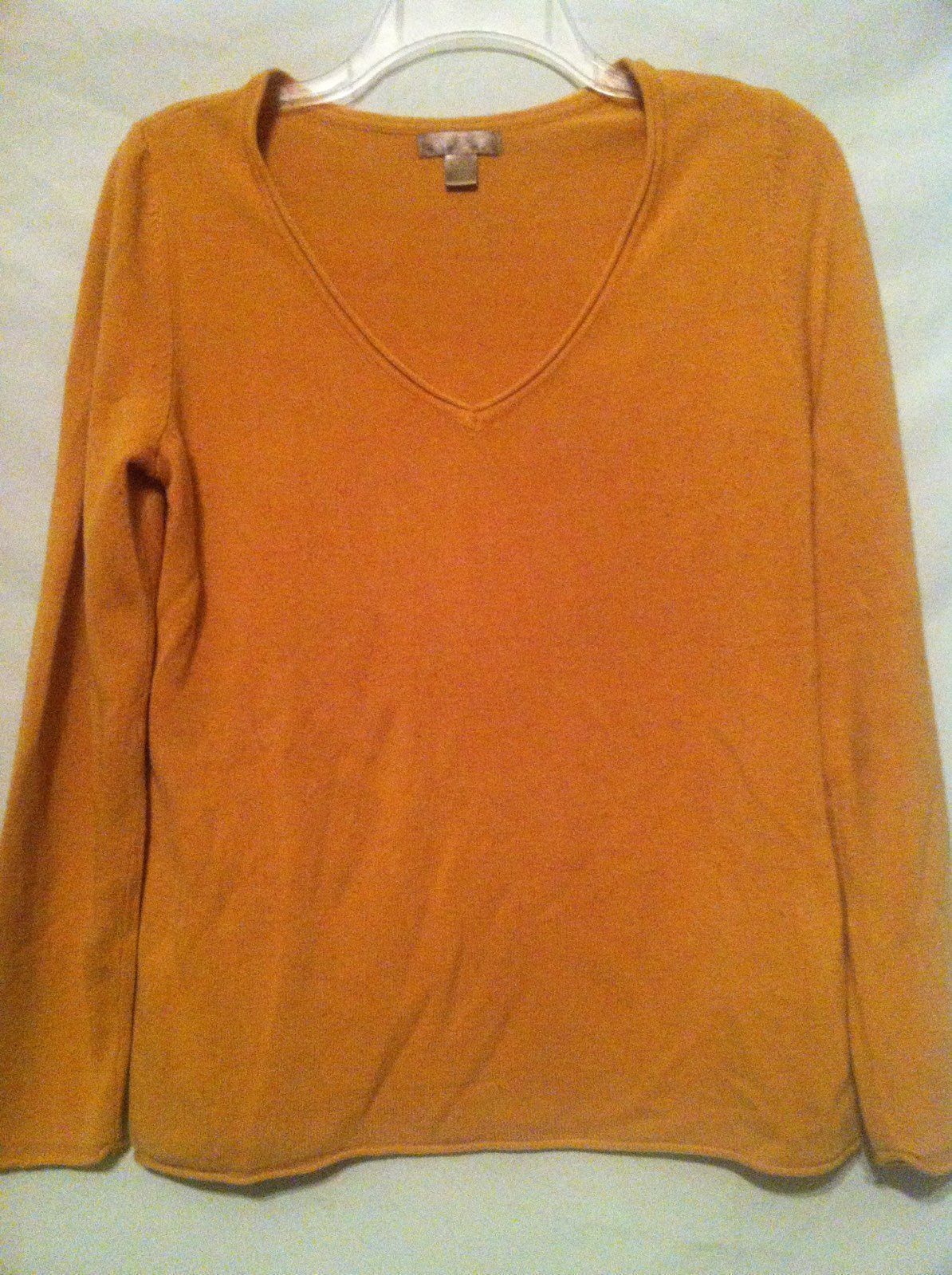 Dark Yellow V Neck Sweater Sz Med - Mercari: BUY & SELL THINGS YOU ...