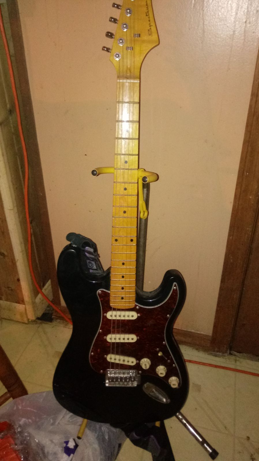 Electric Guitar Small Amp And Stand