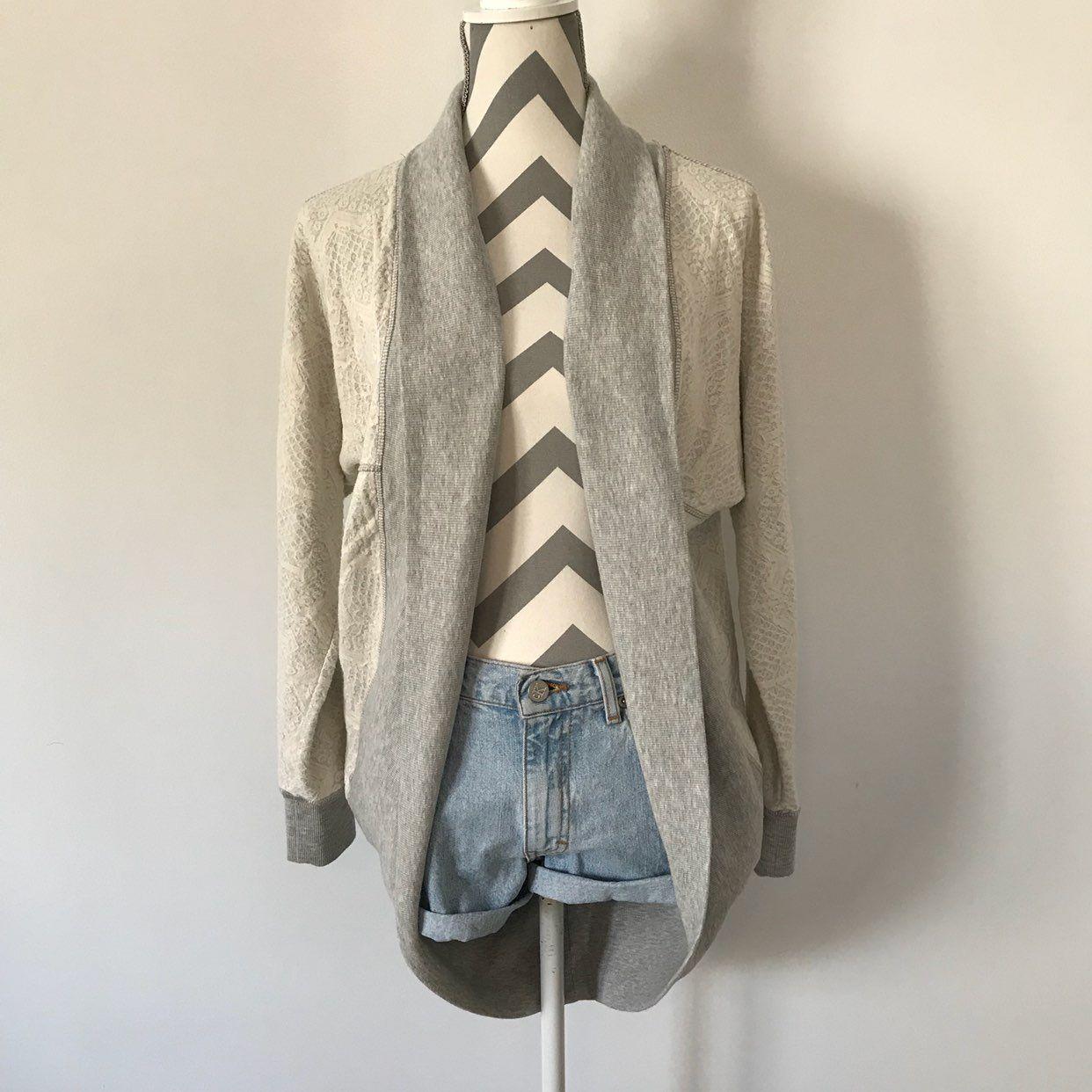Gray Lace Cardigan - Mercari: BUY & SELL THINGS YOU LOVE
