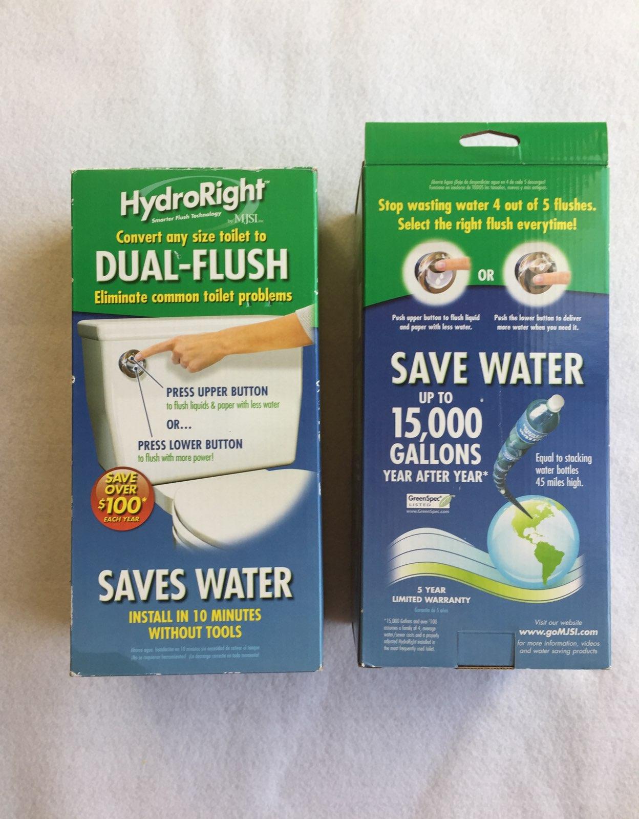 2 Dual Flush Toilet Converter HydroRight