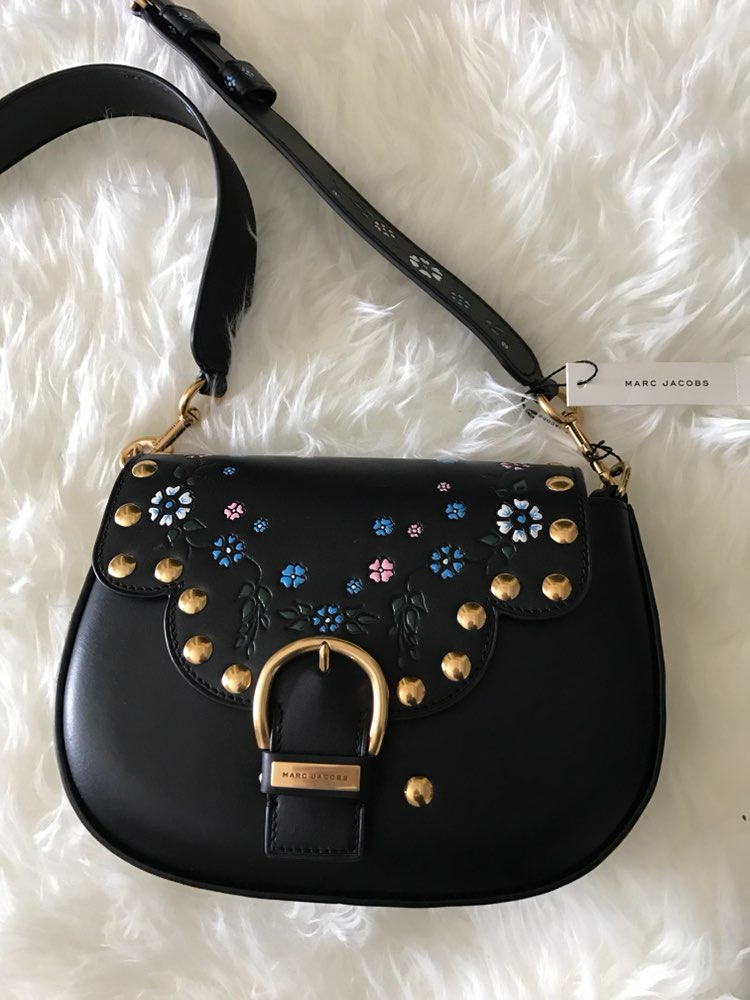 Marc Jacobs Leather Floral stud purse
