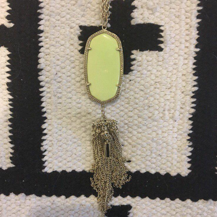 Kendra Scott Neon Yellow Rayne Necklace