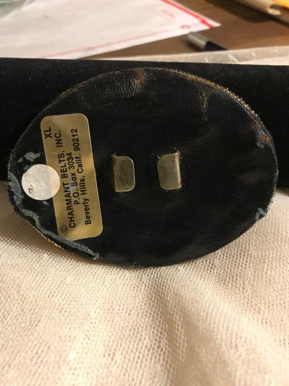 Vintage Beaded Belt Buckle