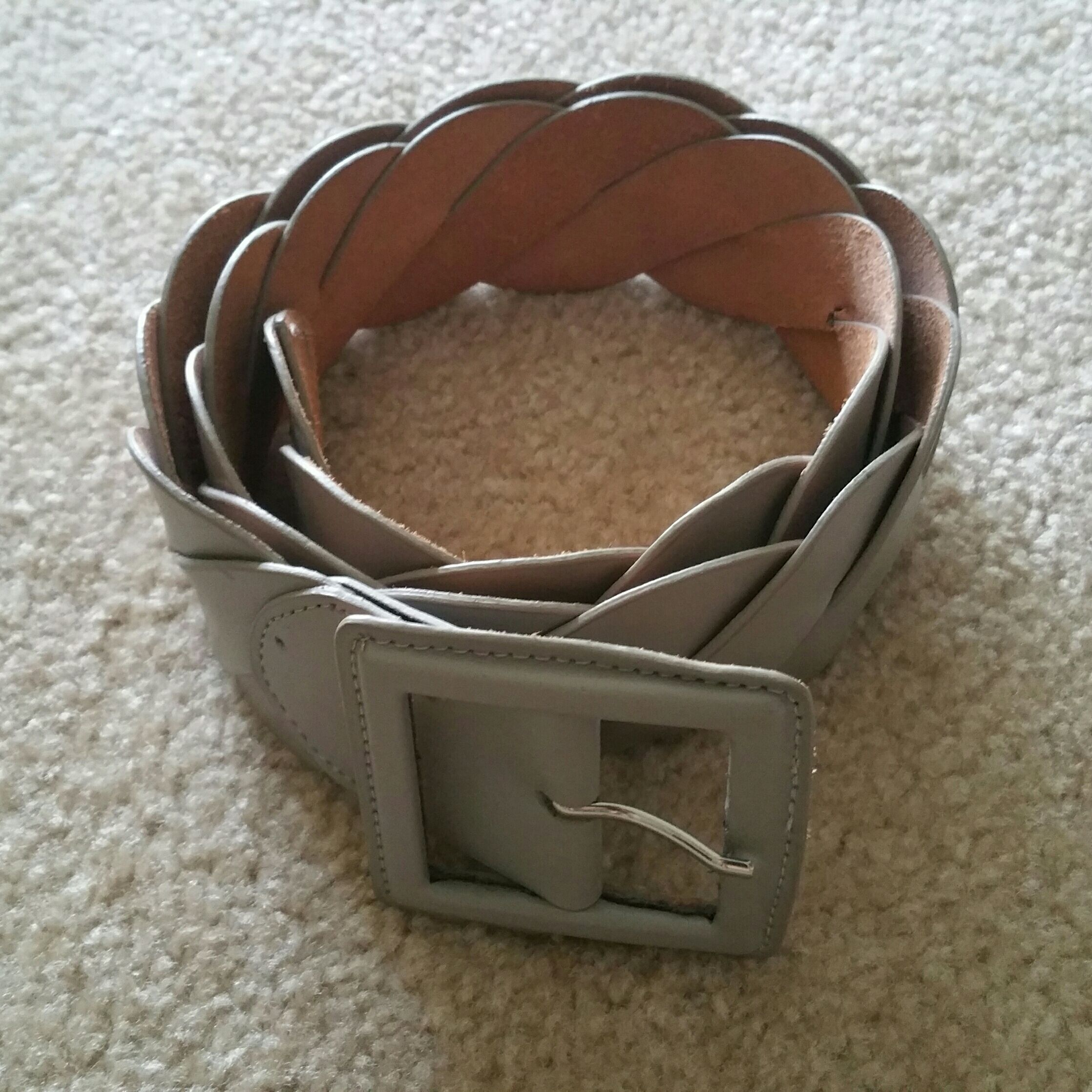 The Limited gray leather belt, L/Large