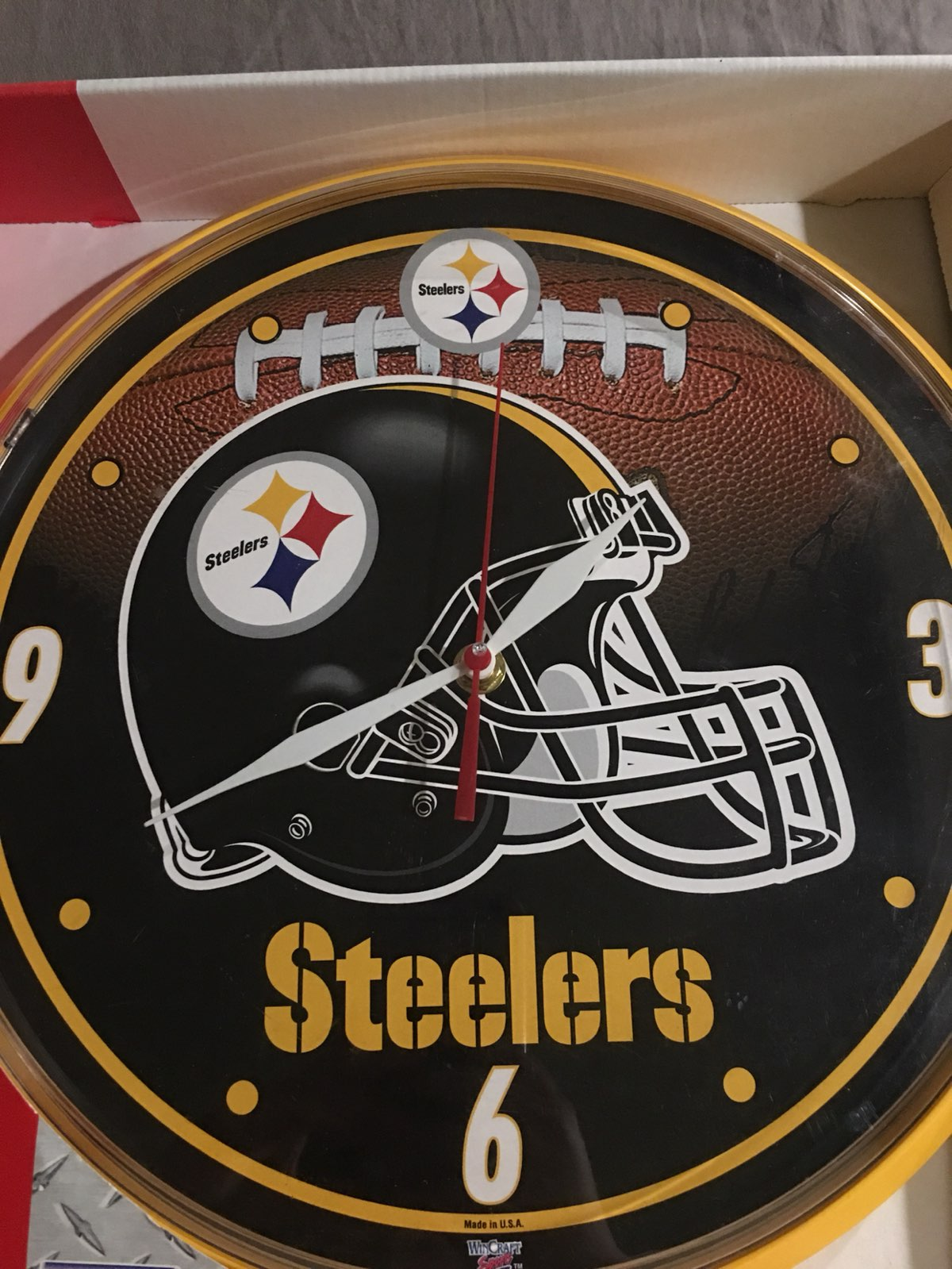 Steelers wall clock mercari buy sell things you love steelers wall clock amipublicfo Image collections