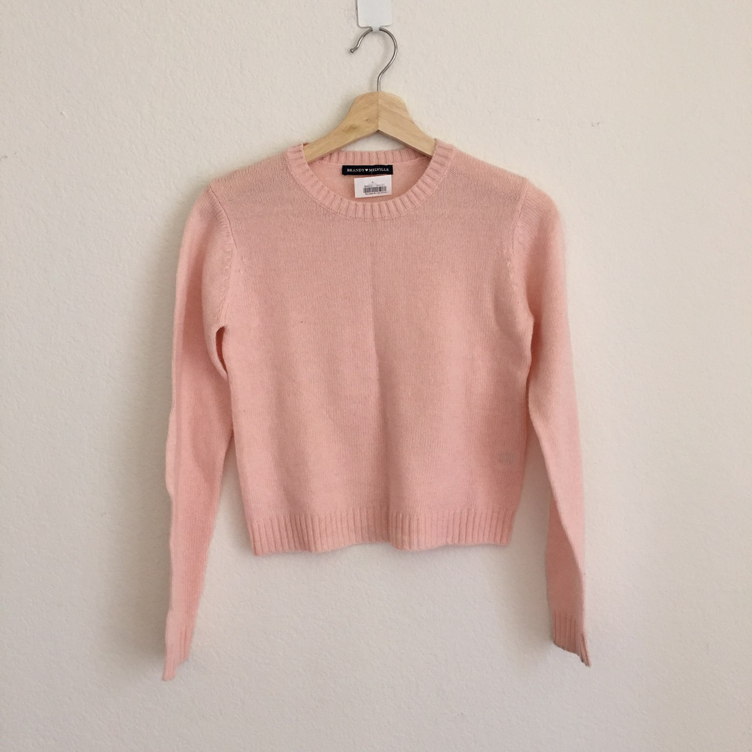 Brandy Melville Pink Sweater - Mercari: BUY & SELL THINGS YOU LOVE