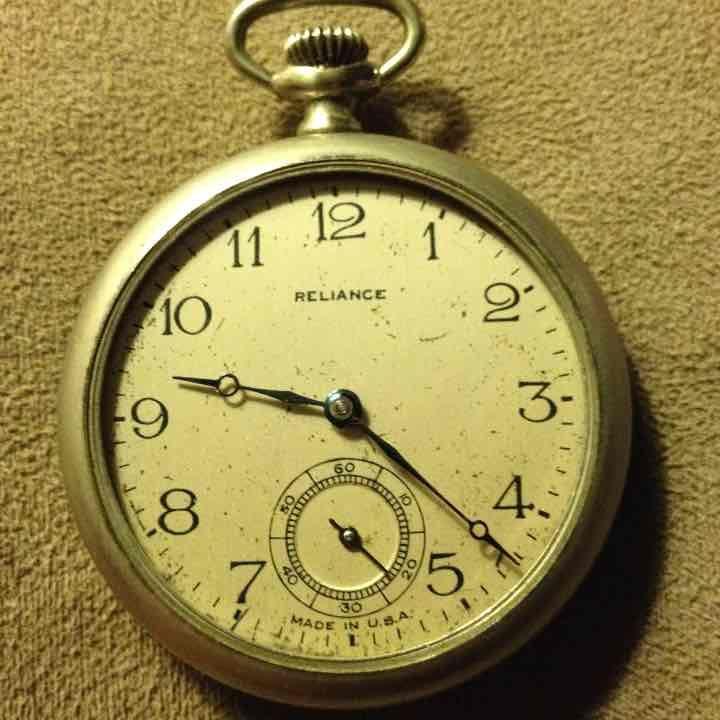 Pocket watch reliance 1800s
