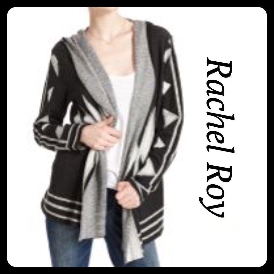 Rachel Roy Tribal Print Hooded Cardigan - Mercari: BUY & SELL ...