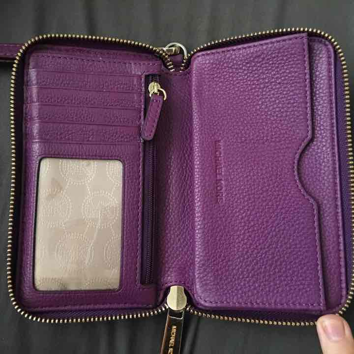Michael Kors Purple Phone Clutch