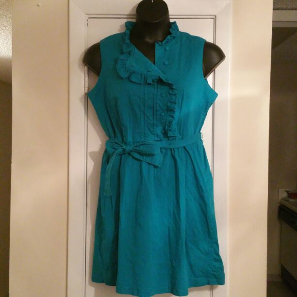 Cute blue women's dress Size 16