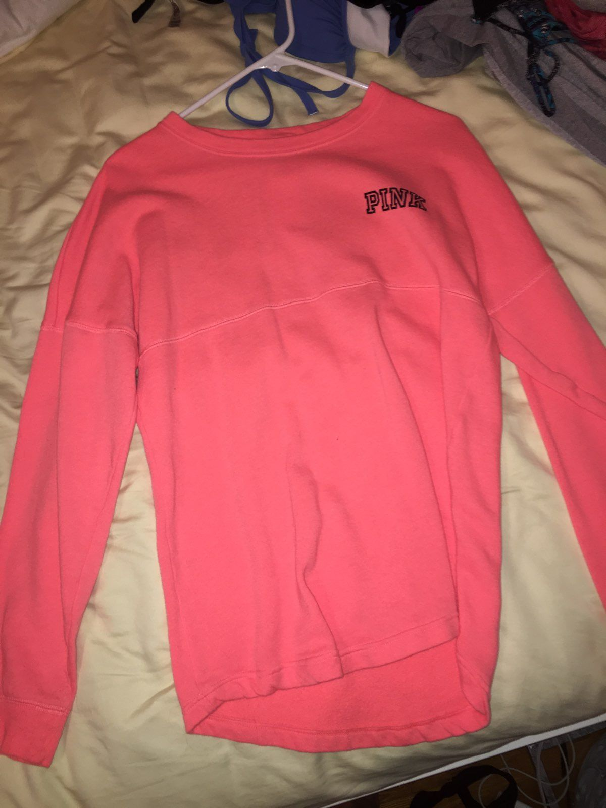 HOT PINK VS PINK CREWNECK SWEATER - Mercari: BUY & SELL THINGS YOU ...