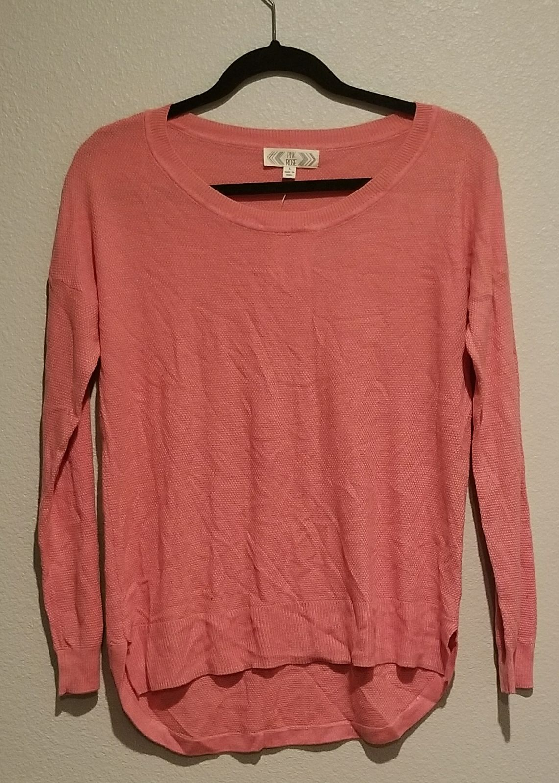 Women's Pink Rose sweater - Mercari: BUY & SELL THINGS YOU LOVE