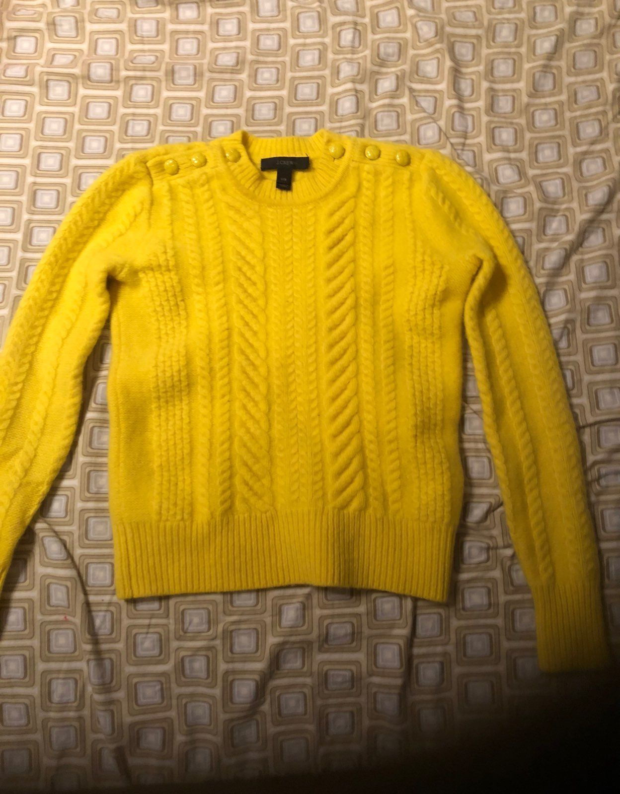 J Crew Yellow Sweater XXS - Mercari: BUY & SELL THINGS YOU LOVE