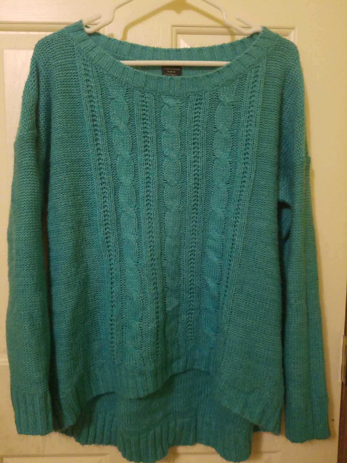 Teal Cable Knit Sweater - Mercari: BUY & SELL THINGS YOU LOVE
