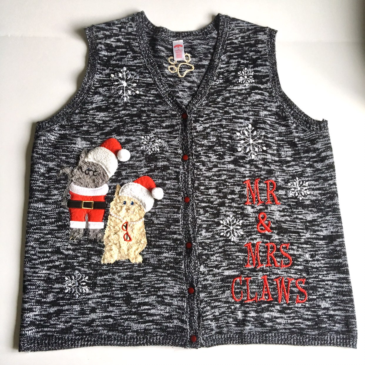 3X Plus Size Cat Christmas Sweater Vest - Mercari: BUY & SELL ...