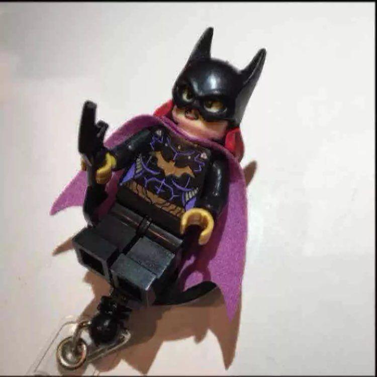 Batgirl Lego ID Badge Holder Nurse RN MD