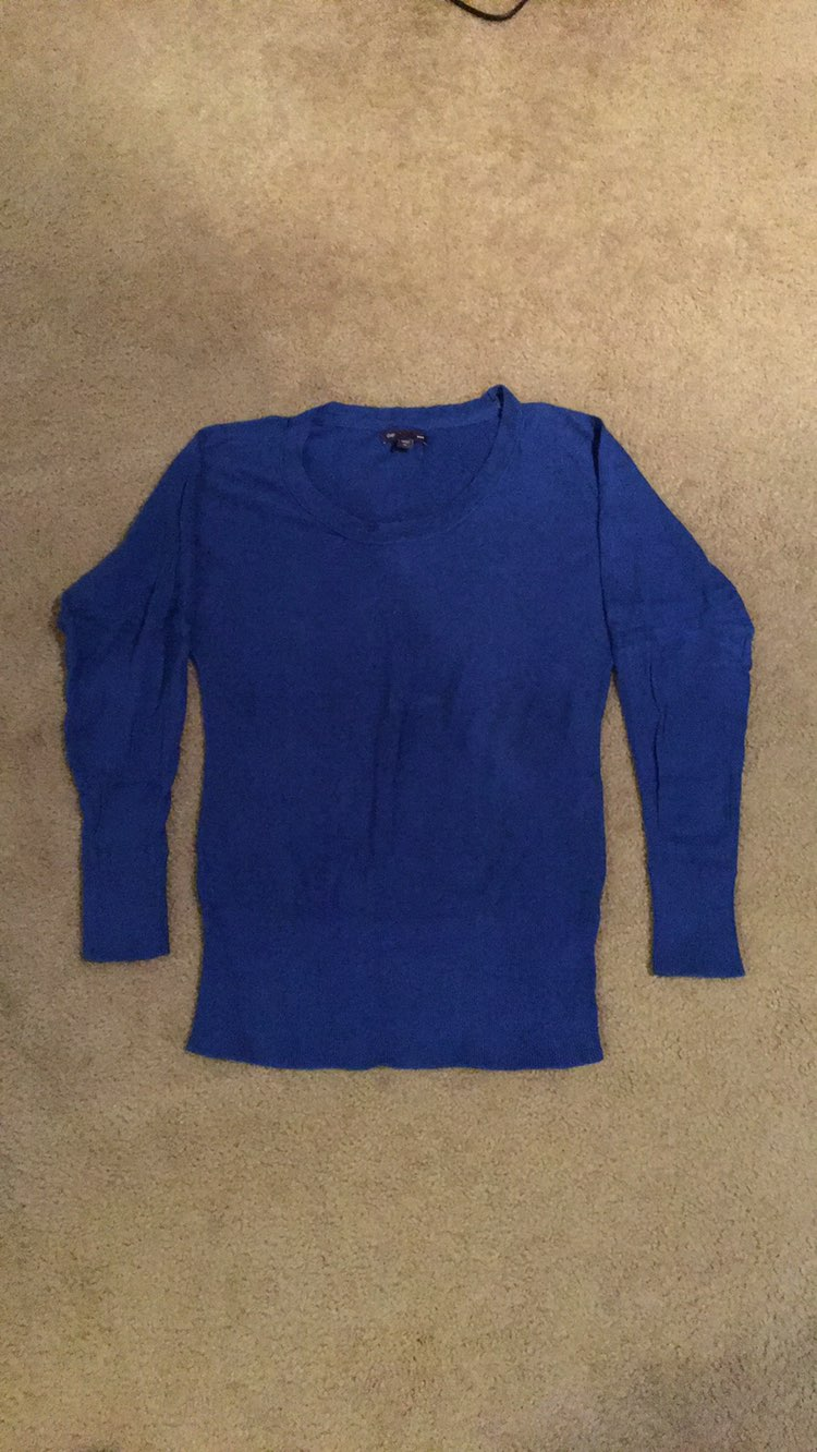 Gap Royal Blue Sweater - Mercari: BUY & SELL THINGS YOU LOVE
