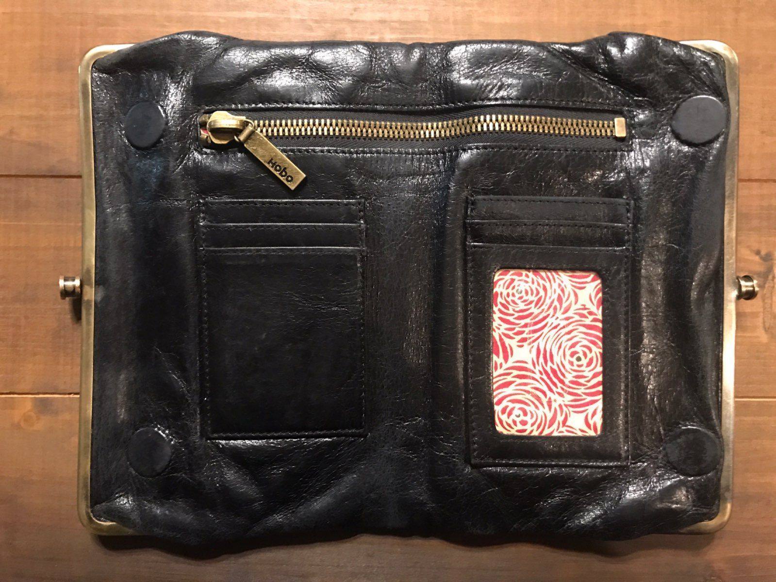 Hobo Lauren Black Leather Wallet Clutch