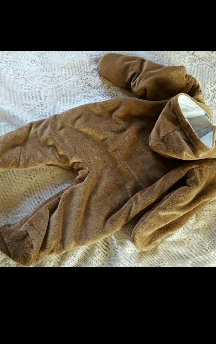 Baby boy 6-9 months Brown Bear Snowsuit