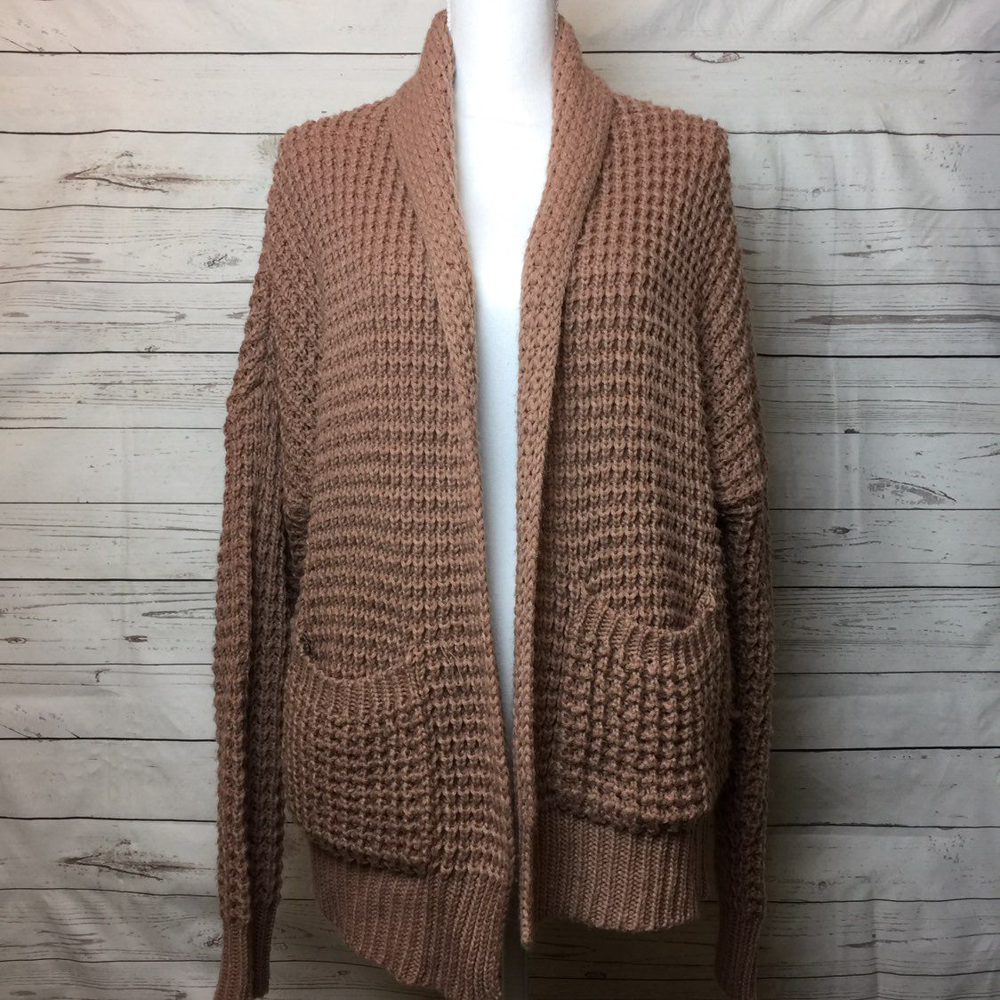 Chunky Knit Oversized Open Cardigan - Mercari: BUY & SELL THINGS ...