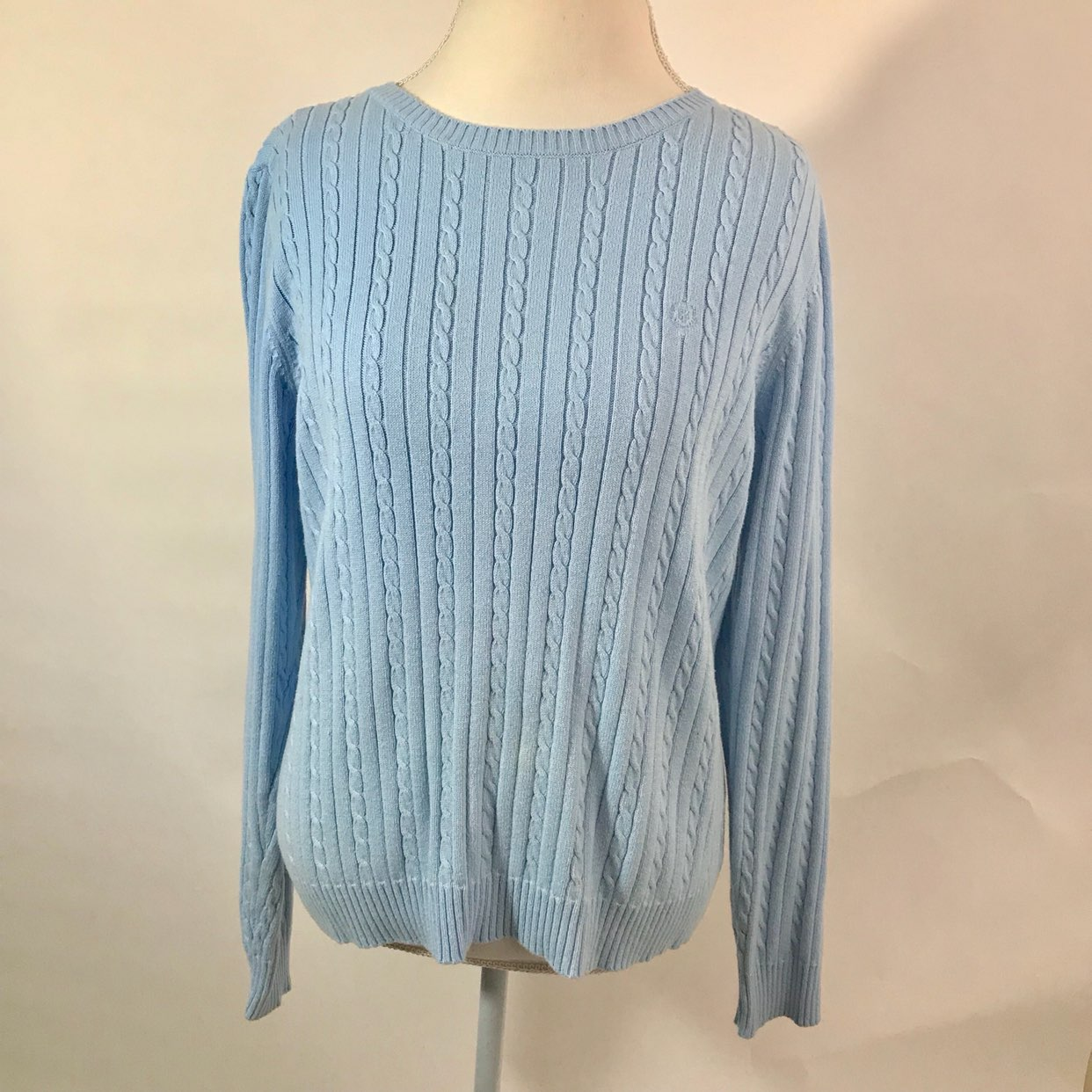 Izod Baby Blue Cable Knit Sweater XL - Mercari: BUY & SELL THINGS ...
