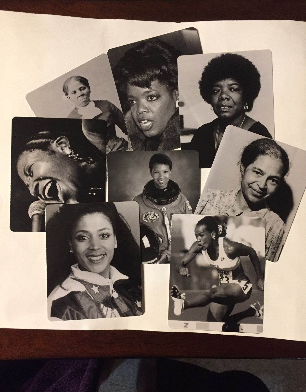 African American Women History Cards