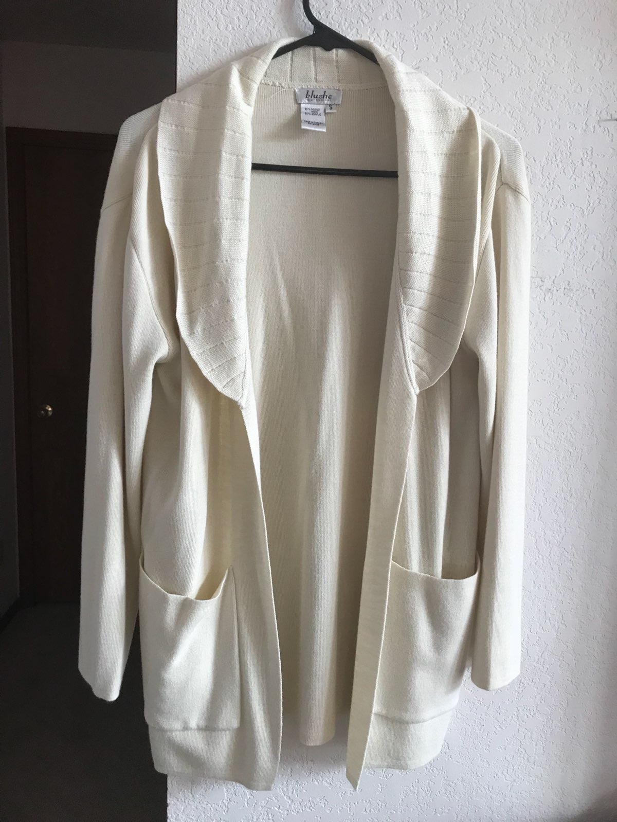 WINTER WHITE POCKETED LONG CARDIGAN - Mercari: BUY & SELL THINGS ...