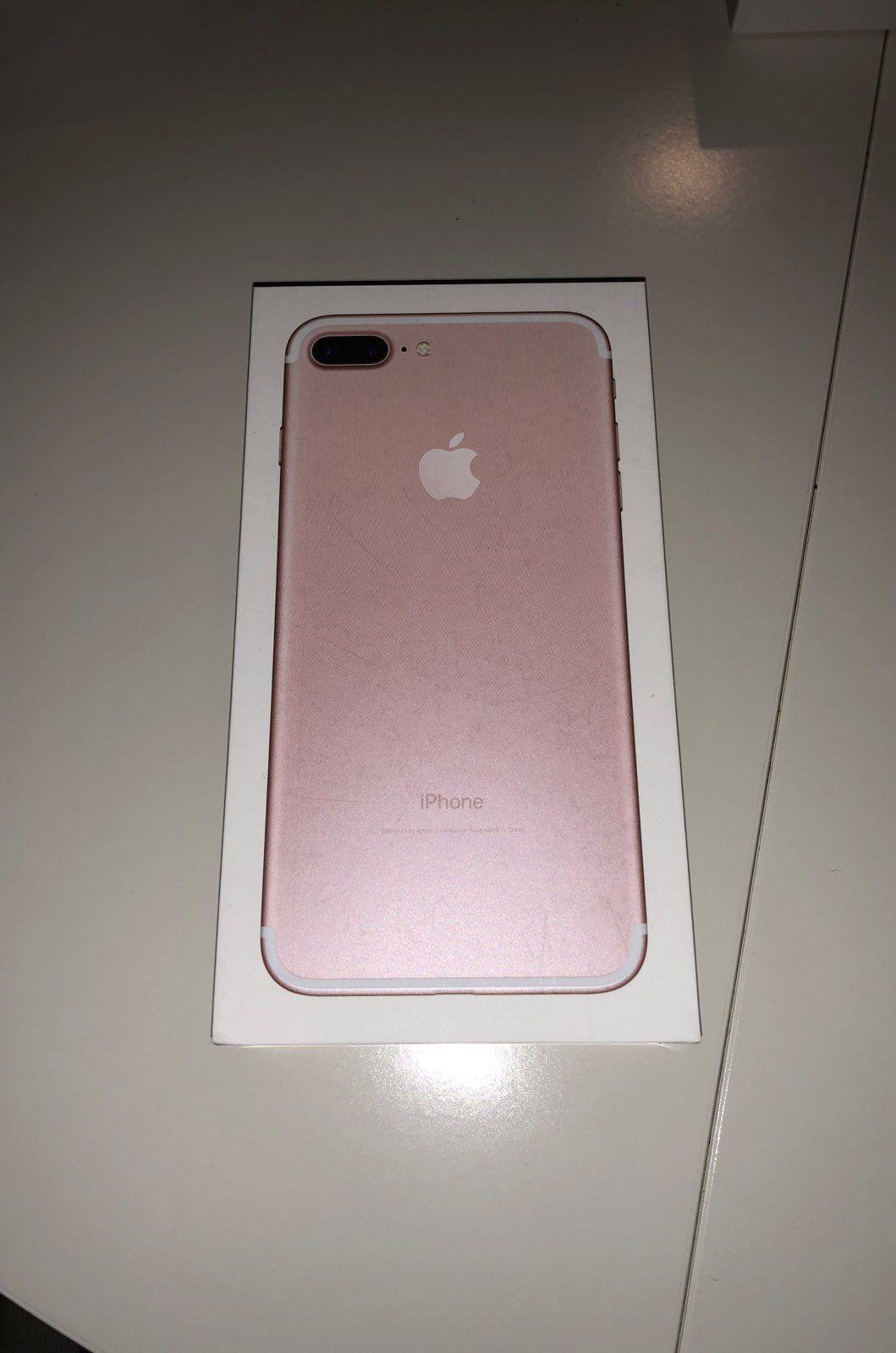 IPhone 7 Plus Rose Gold Box