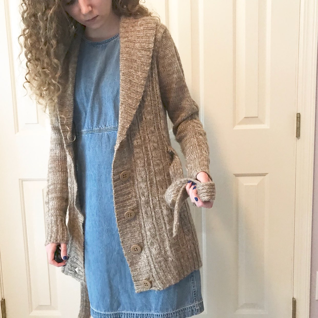 Long Tan Cardigan - Mercari: BUY & SELL THINGS YOU LOVE