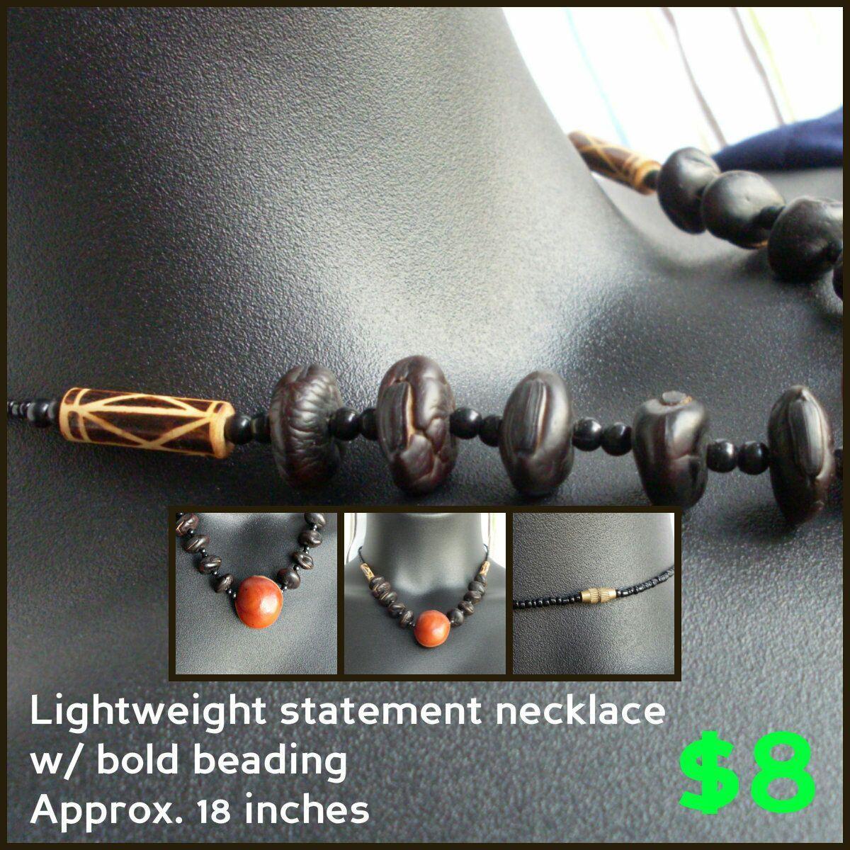 Lightweight, bold statement necklace