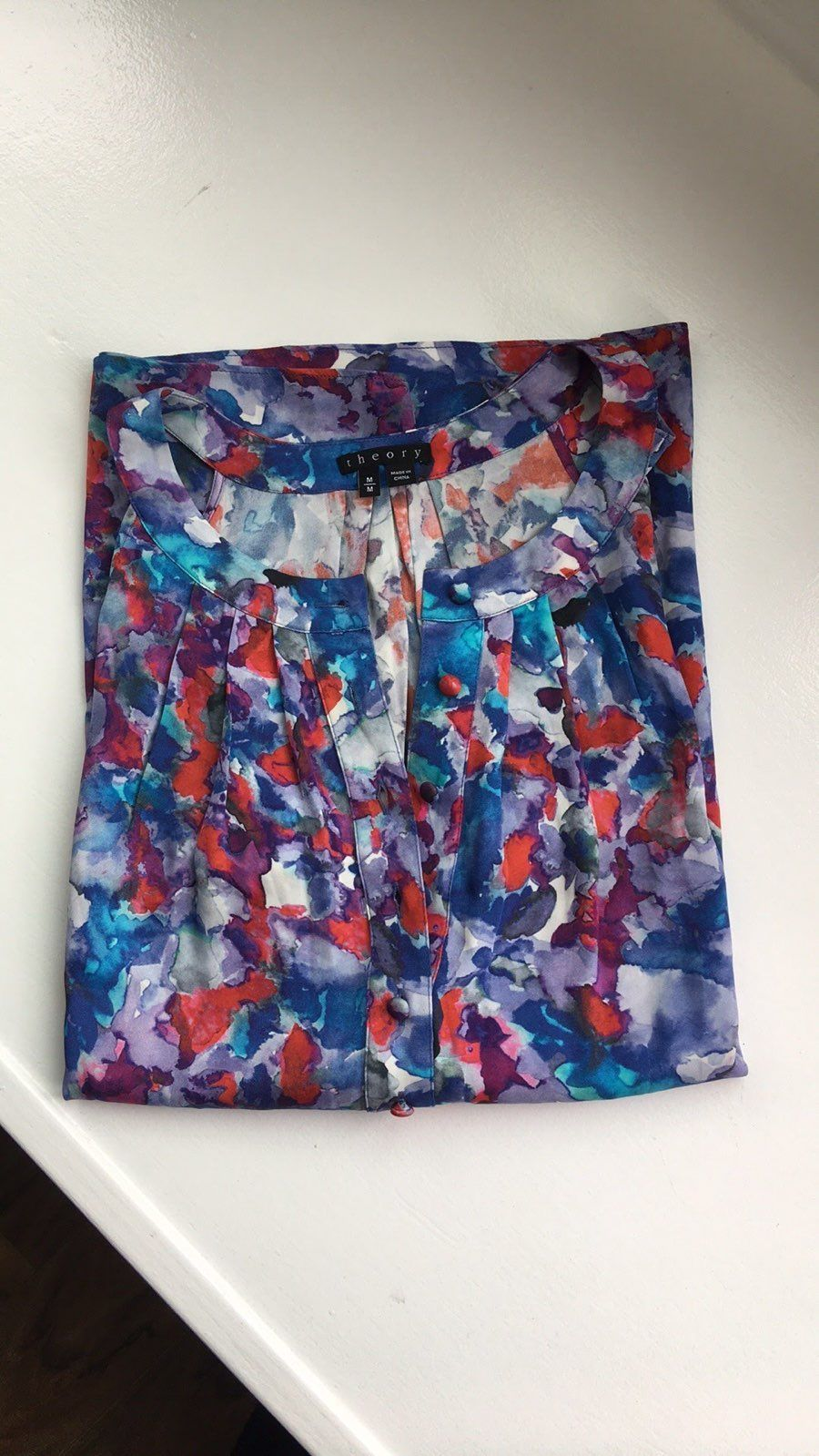NWOT Theory Colorful Top Size Medium