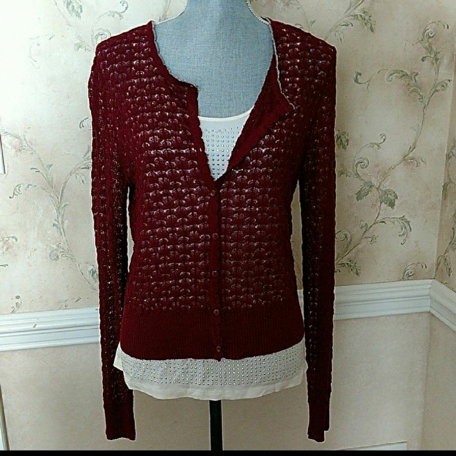 Silver Studded Tank & Lace Sweater - Mercari: BUY & SELL THINGS ...