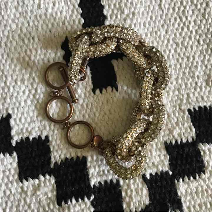 Pave link bracelet diamond jewel