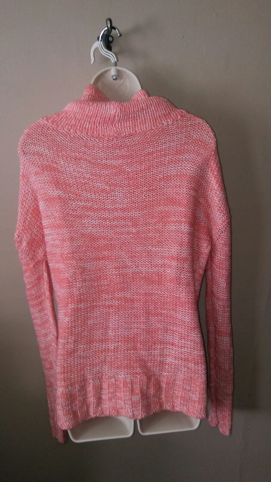 Salmon Cowl Neck Sweater with Pocket L - Mercari: BUY & SELL ...