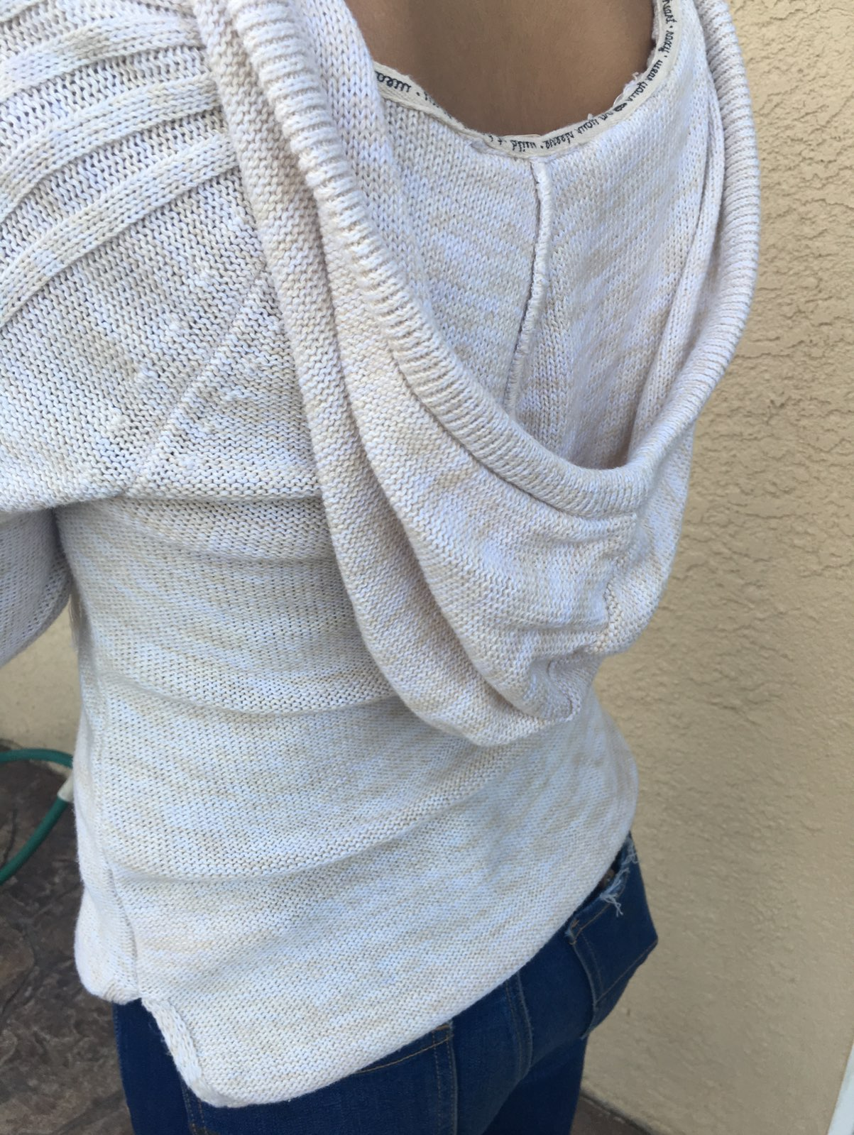 Cream Colored Knit Sweater - Mercari: BUY & SELL THINGS YOU LOVE