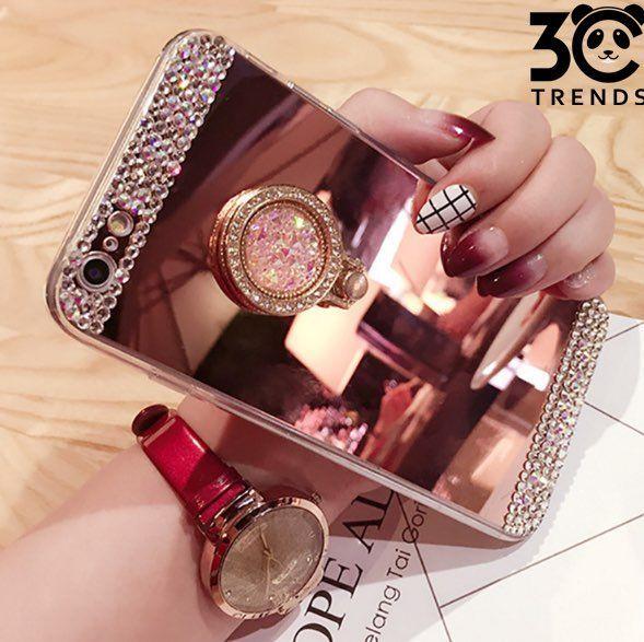 Bling Diamond Mirror Ring Holder