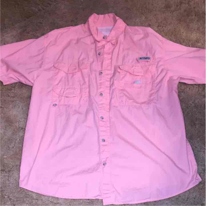 Pink men's Columbia shirt size large - Mercari: BUY & SELL THINGS ...