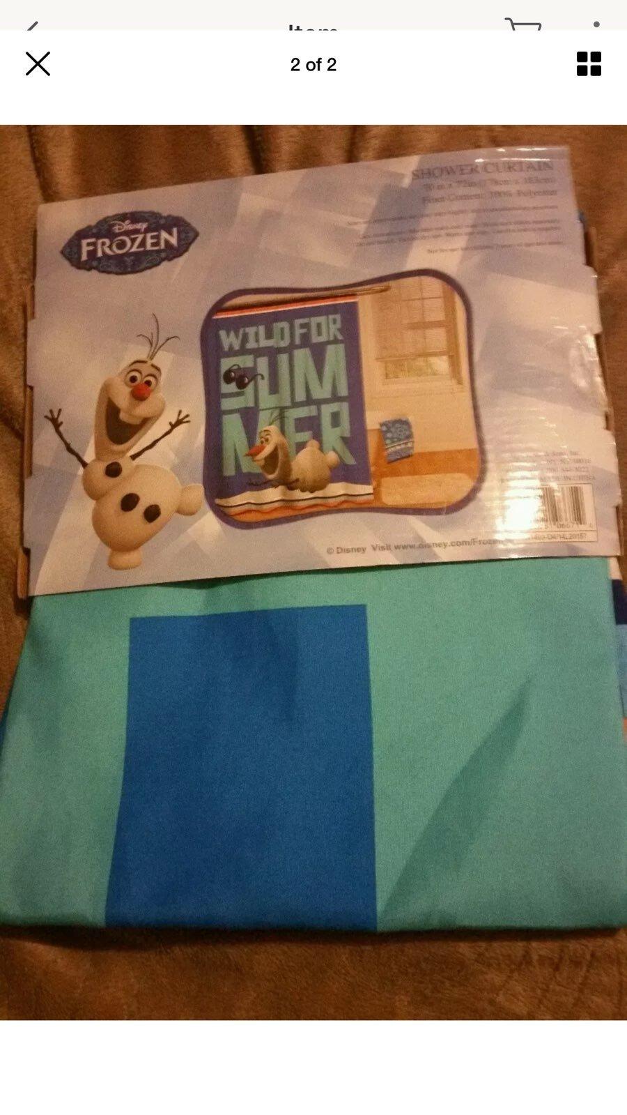 Frozen Olaf Print Fabric Shower Curtain
