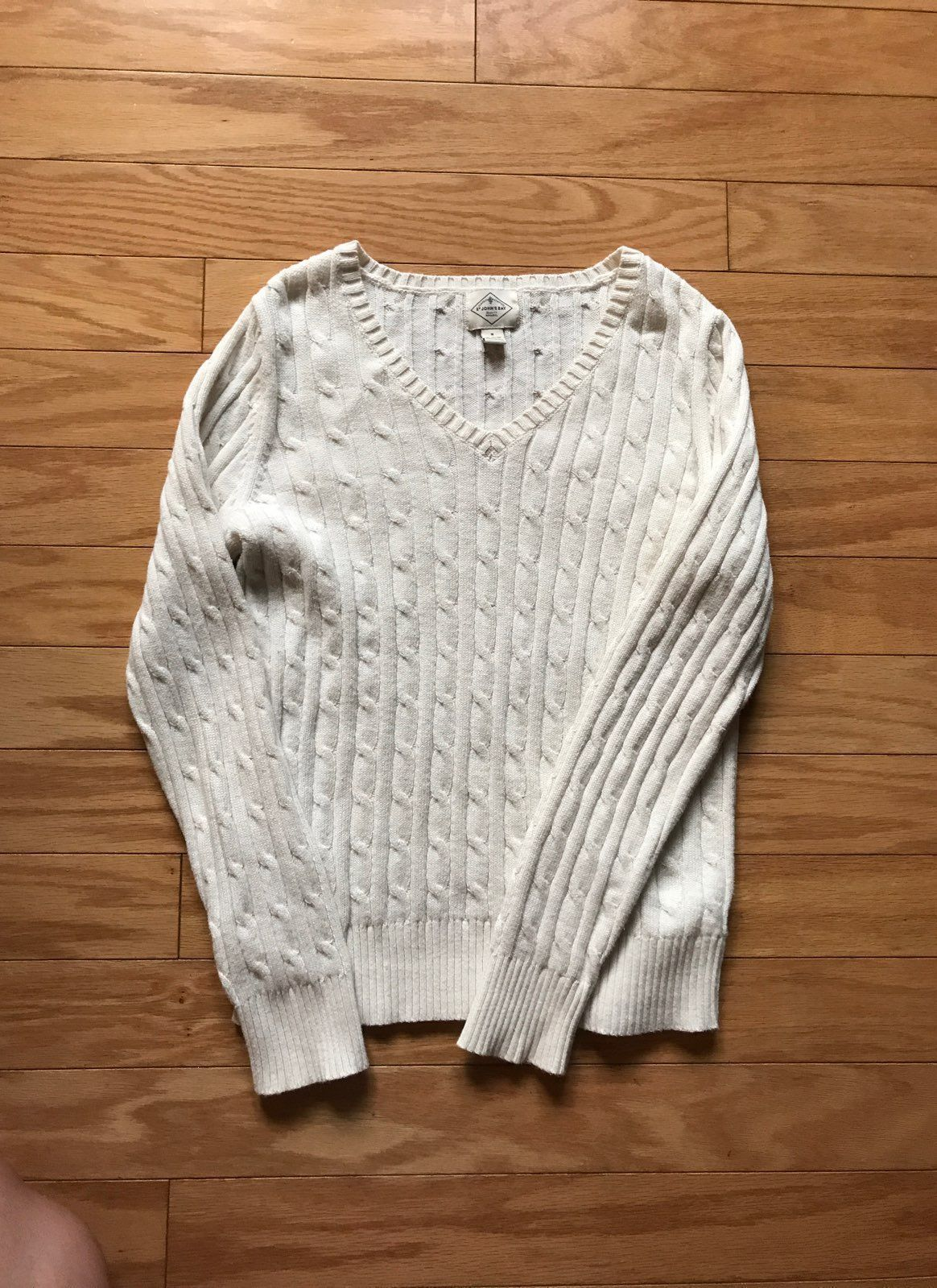 St. John's Bay Cable Knit Sweater Top - Mercari: BUY & SELL THINGS ...