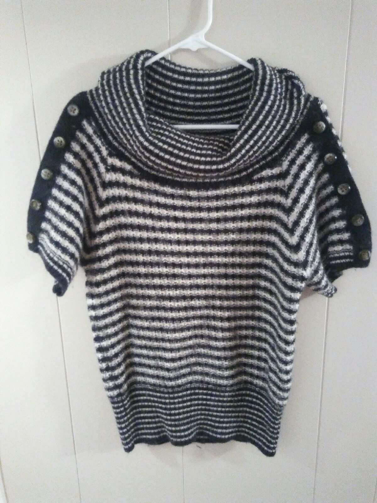 Striped cowl neck sweater sz medium - Mercari: BUY & SELL THINGS ...