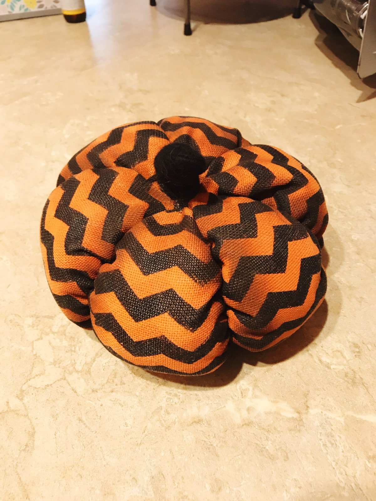 Chevron Fabric Pumpkin - Mercari: BUY & SELL THINGS YOU LOVE