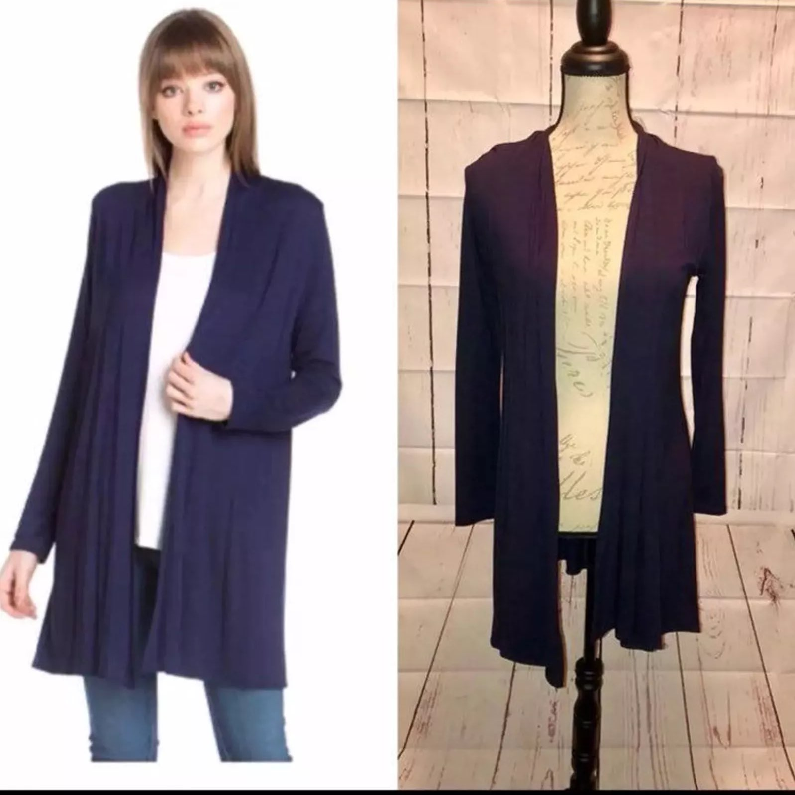 NWT NAVY BLUE CARDIGAN XL - Mercari: BUY & SELL THINGS YOU LOVE