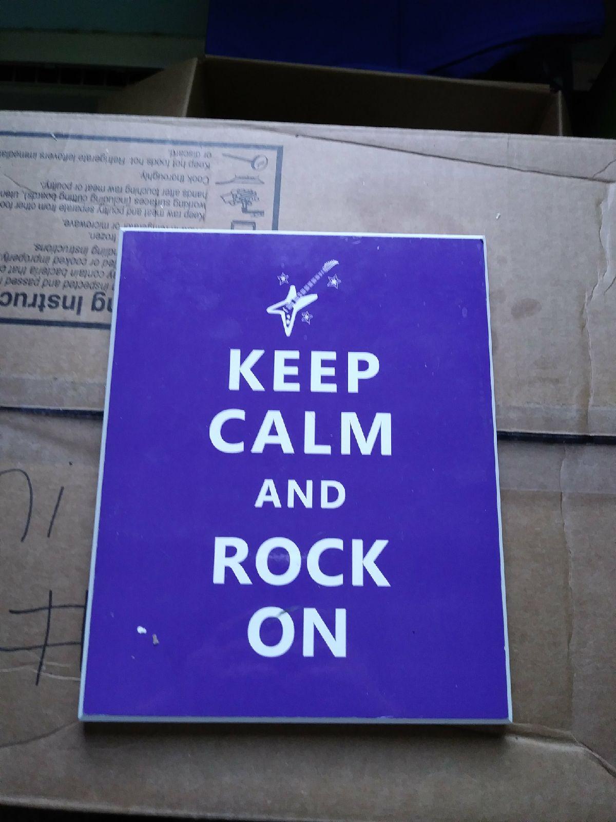 Keep calm wooden sign