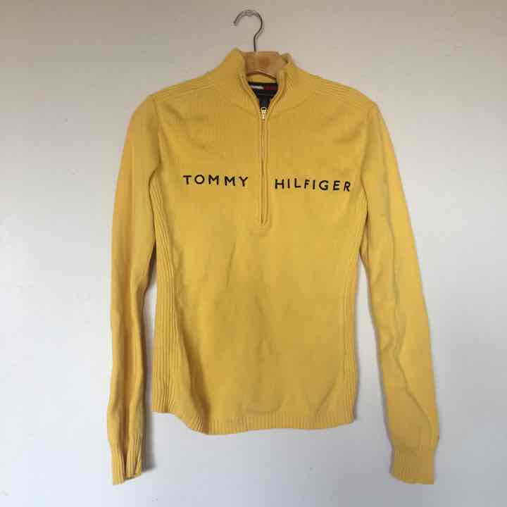 Tommy Hilfiger Yellow Sweater - Mercari: BUY & SELL THINGS YOU LOVE