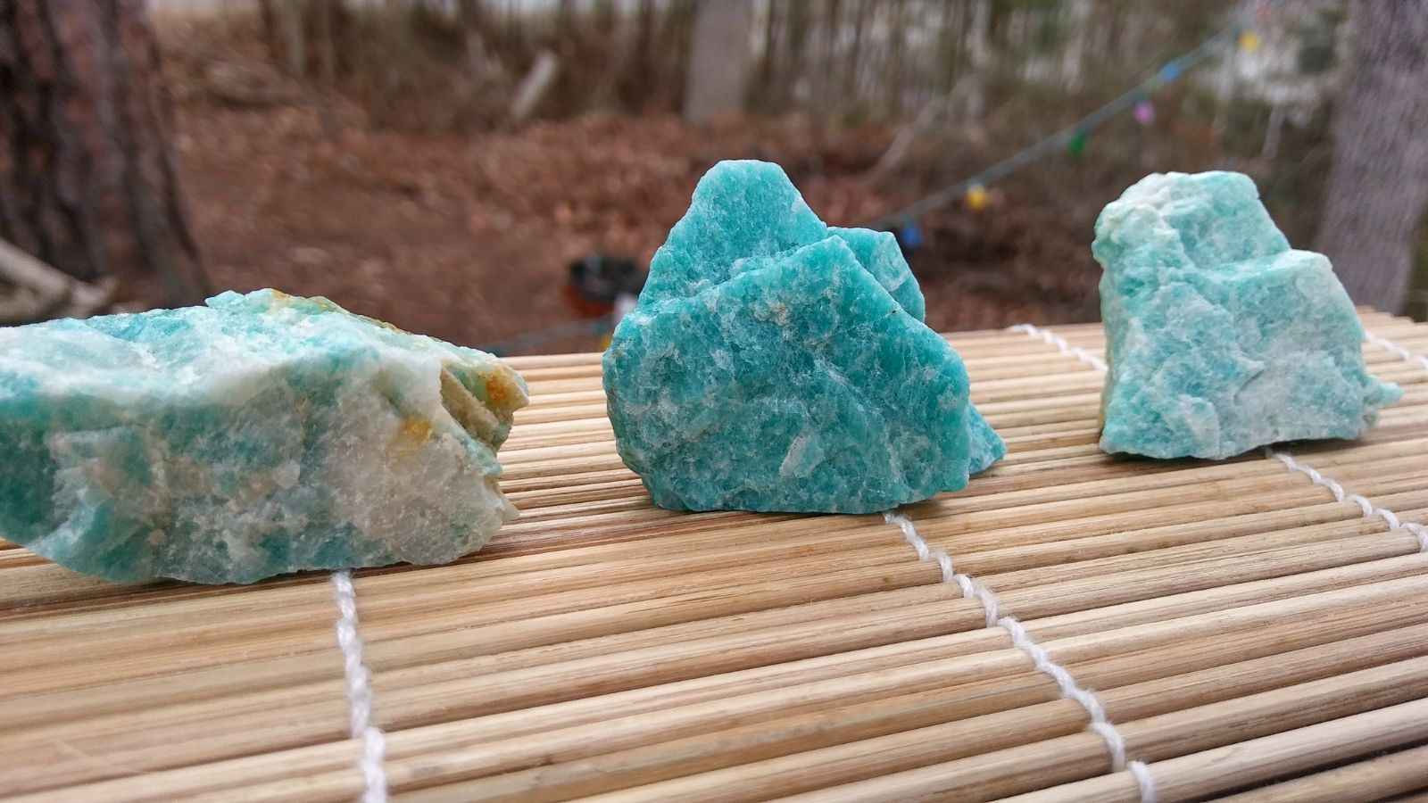 3 Pieces of Natural Amazonite Crystals
