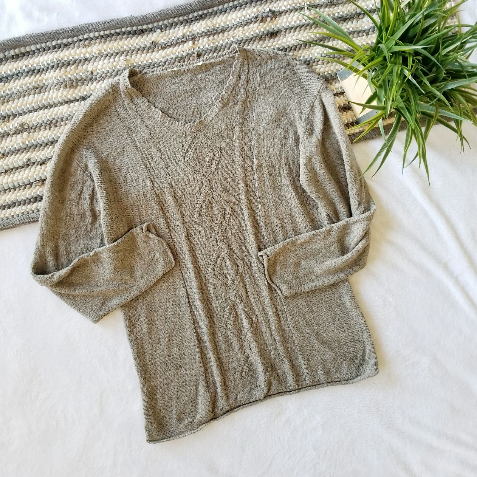 Oversized Cable Knit Sweater - Mercari: BUY & SELL THINGS YOU LOVE