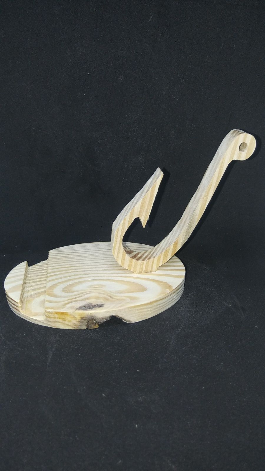 Wood Phone Stand - Fish Hook